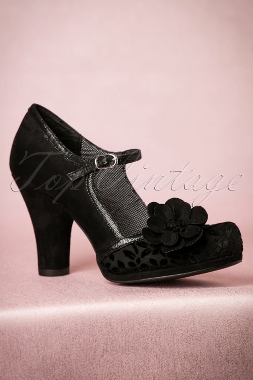 Ruby Shoo Tanya Pumps in Black 402 10 18526 08302016 005W