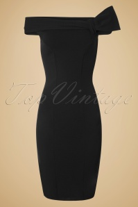 50s Vivian Pencil Dress in Black