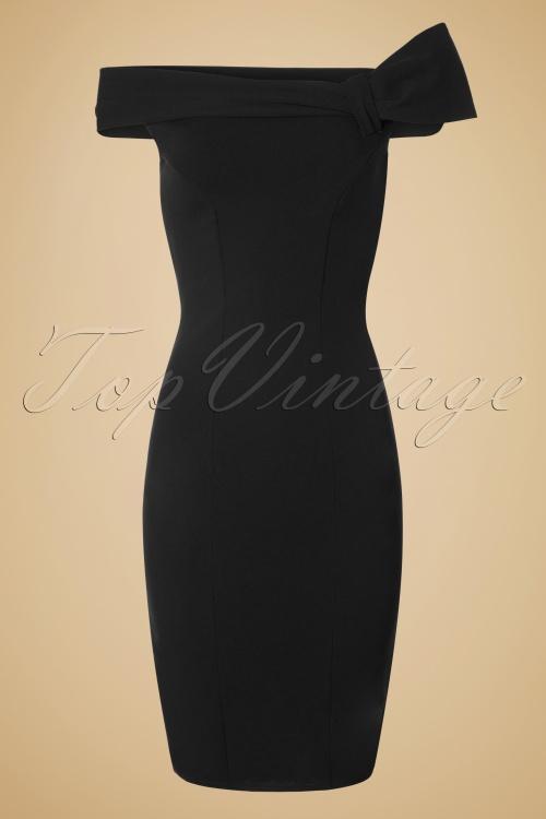 Vintage Chic Black Off Shoulder Pencil Dress 100 10 19643 20160831 0004W