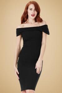 Vintage Chic Black Off Shoulder Pencil Dress 100 10 19643 20160831 1