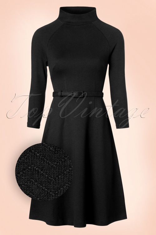 King Louie 60s Monica Black Dress 102 10 15719 20160830 0005W1