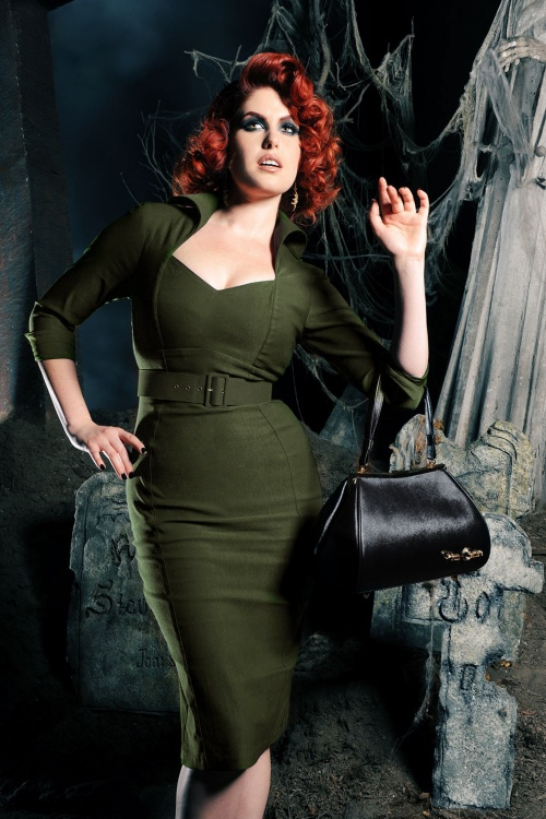 Pinup Couture Lorelei Dress in Green 100 40 19517 20160901 0017