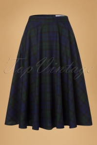 50s Doralee Swing Skirt in Dublin Tartan
