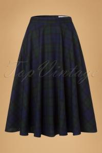 50s Doralee Swing Skirt in Dublin Tartan