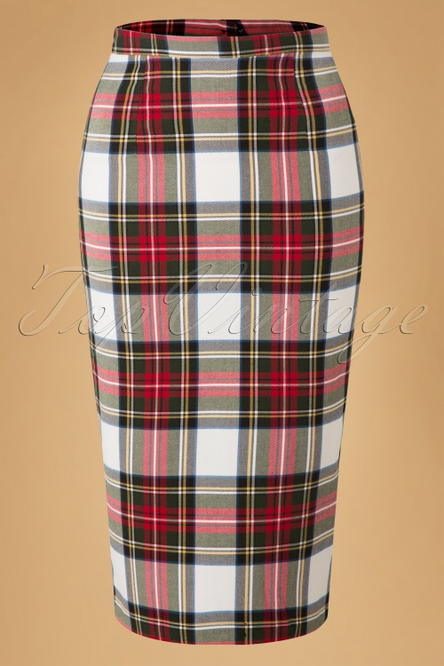Bunny Jodie Stewart Tart Check Red Green Pencil Skirt 120 59 16739 20150831 0009W