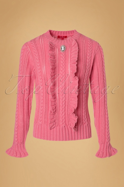 Derhy Oakland Ecru Pink Pullover Top 113 51 18503 20160902 0003W