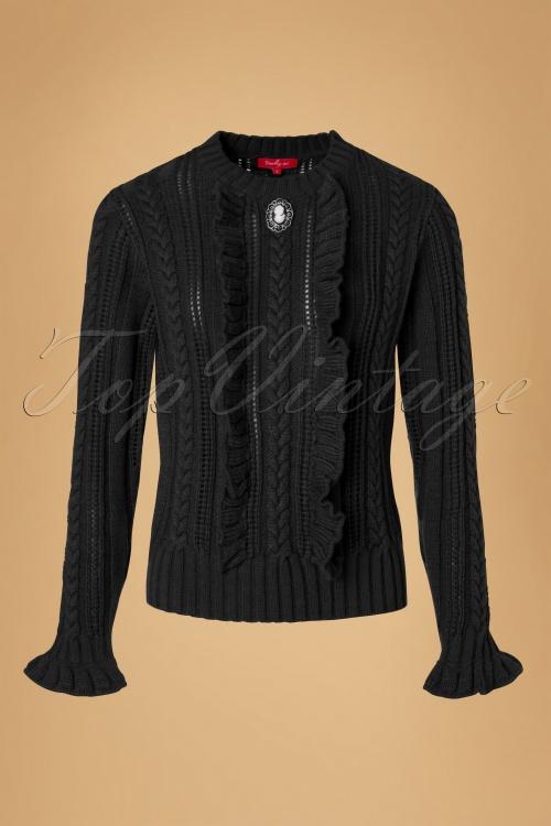 Derhy Oakland Ecru Black Pullover Top 113 51 18504 20160902 0003W
