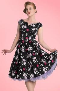Bunny Belinda Black Floral Swing Dress 102 14 19591 20160902 1