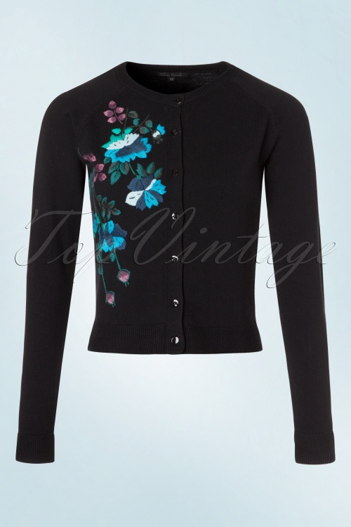 King Louie Hand Embroidered Floral Cardigan 140 10 19170 20160906 0007W