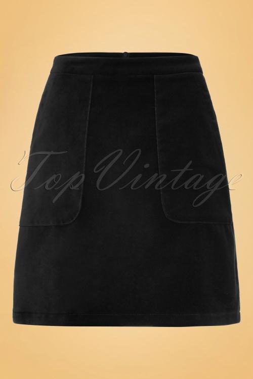 King Louie 70s Beet Black Leyla Skirt 120 10 19092 20160906 0010W