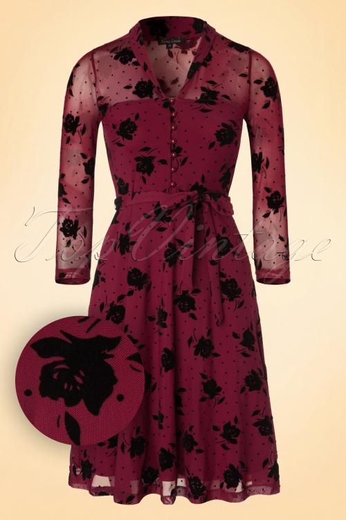 King Louie Beet Red Emmy Floral Dress 102 27 19130 20160906 0004W1