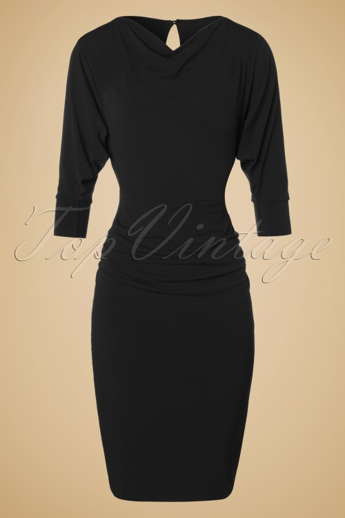 Zoe Vine Marylin Black Pencil Dress 100 10 18520 20160302 001