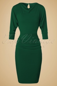 Zoe Vine 50s Marilyn Green Batwing Dress 100 20 19066 20160907 0005W