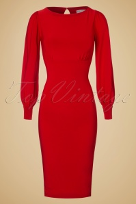 Zoe Vine Red Keyhole Pencil Dress 100 20 18518 20160907 0009W