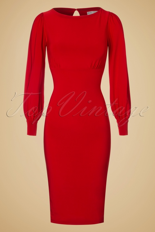 Zoe Vine Red Keyhole Pencil Dress 100 20 18518 20160907 0009W