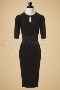 TopVintage exclusive ~ 30s Ellen Pencil Dress in Black