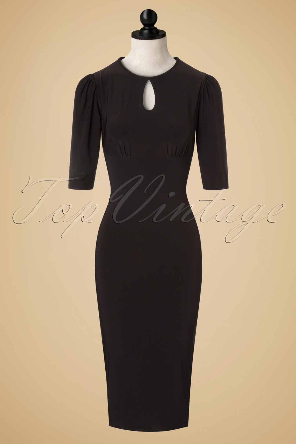 30s pencil dress in black