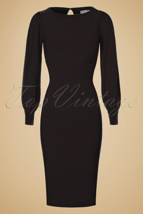 Zoe Vine Black Keyhole Pencil Dress 100 10 19247 20160907 0009W