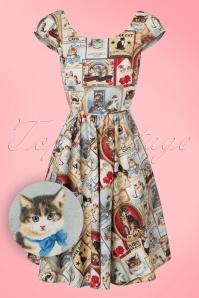 Retrolicious Exclusive Model Citizen Cat Semi Swing Dress 102 58 19014 20160908 0004W1