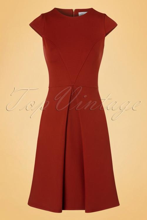Closet Rust Red Cap Sleeve Dress 102 20 19704 20160908 0004W