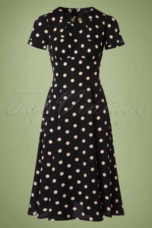 Bunny Madden Black Ivory Polkadot Dress 102 14 19592 20160909 0003W
