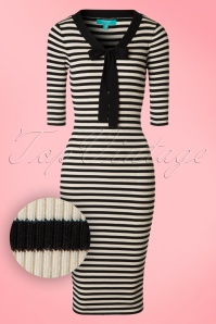 Fever Lacanau Dress in Black and White 100 14 17527 20160909 0004W1