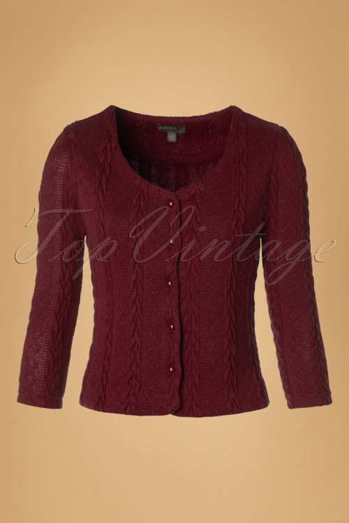 Fever Bray Cardigan in Maroon 140 20 13083 20160909 0004W