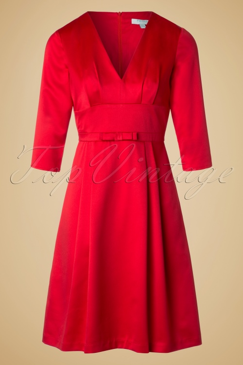 Fever Mabel Bow Dress in Red 102 20 19212 20160909 0004W