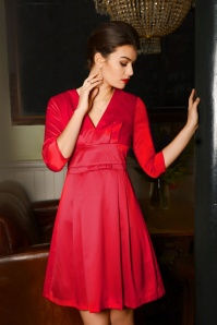 Fever Mabel Bow Dress in Red 102 20 19212 20160909 001