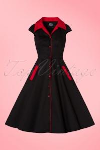 Hearts & Roses Black and Red Dress 102 10 19968 09132016 020W