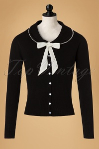 50s Katy Pearls Cardigan in Black