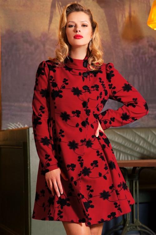 Vixen Joan coat in Red 152 27 19476 09142016 3