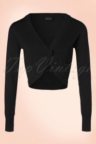 50s Elle Bow Cardigan in Black