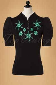 50s Estelle Top in Black