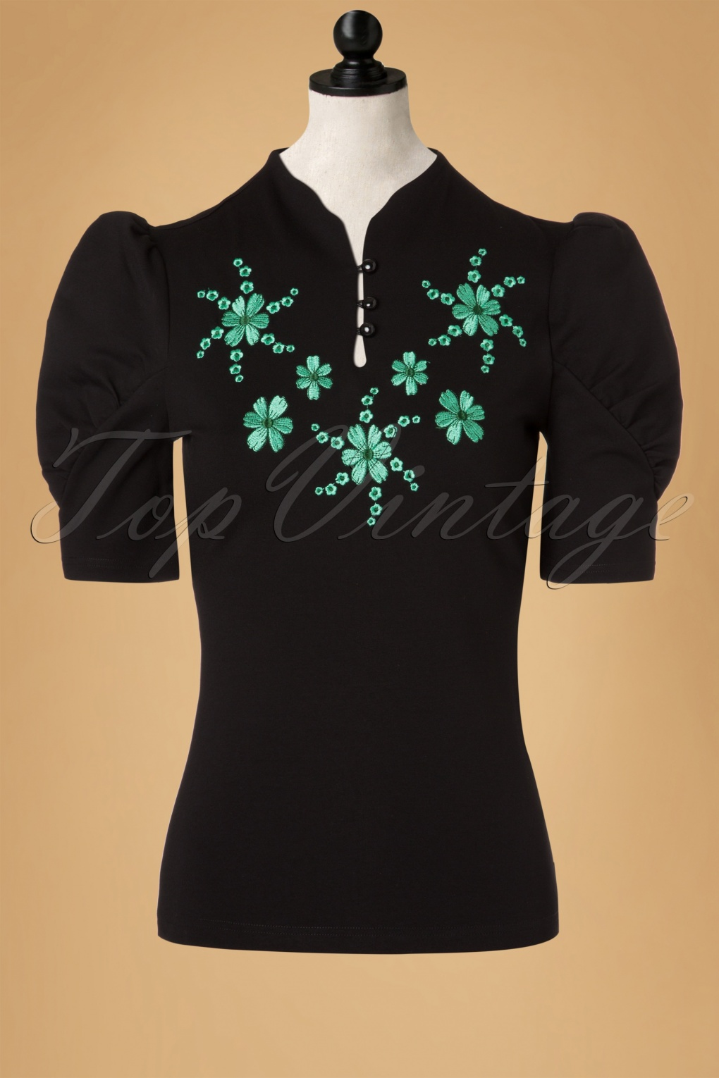 1940s Blouses and Tops 50s Estelle Top in Black £26.43 AT vintagedancer.com
