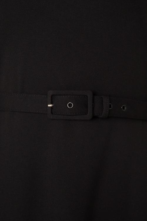 50s Dita Swing Dress in Black