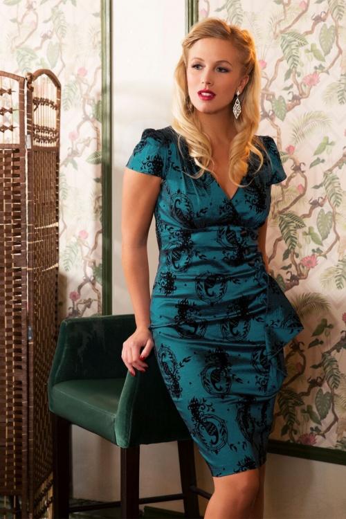 Vixen Candy Ann Blue Peacock Dress 100 39 19435 20160914 2