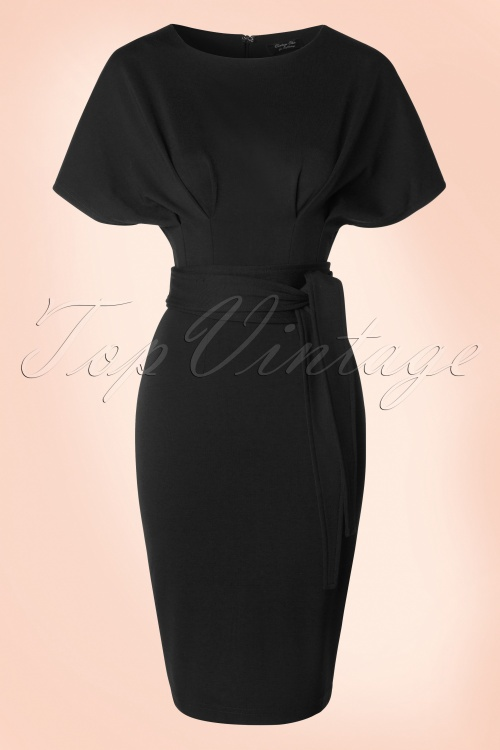 Vintage Chic Kimono Sleeve Black Dress 100 20 19646 20160330 0007W