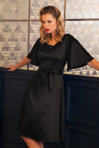 30s Ellie A-Line Dress in Black