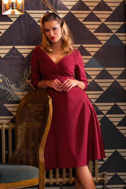 Vixen Red A line Dress 102 20 19647 20160914 1
