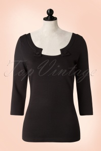 50s Irena Top in Black