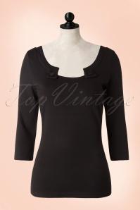 50s Irena Top in Black