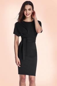 Vintage Chic Kimono Sleeve Black Dress 100 20 19646 20160330 00010