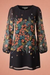 Yumi Botanical Print Black 60s Dress 106 14 18334  20160120 0100W