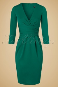 Vintage Chic Emerald Pencil Dress 100 40 19611 20160919 0005W