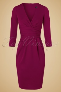Vintage Chic Fuchsia Pencil Dress 100 22 19612 20160919 0005W