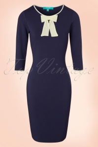 Fever Michelle Bow Blue Pencil Dress 100 39 19205 20160920 0003W