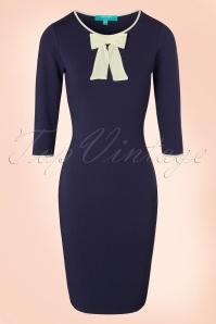 Fever Michelle Bow Blue Pencil Dress 100 39 19205 20160920 0003W