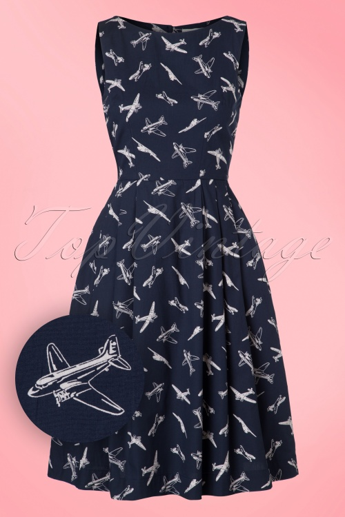 Emily and Fin  Penny Airplane Dress in Blue 102 39 18313 20160919 0003W1