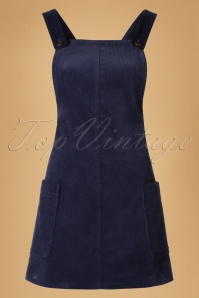 Bright and Beatiful Lena Pinafor Dress in Navy Blue 18816 20160531 0006W